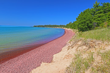 Wall Mural - Keweenaw Beach Landscape Michigan
