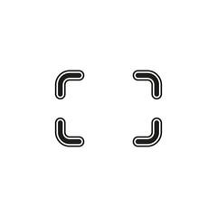 Autofocus icon - digital photo camera illustration, vector image concept