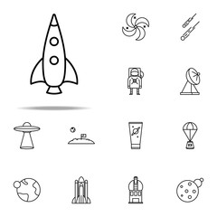 rocket icon. Cartooning space icons universal set for web and mobile