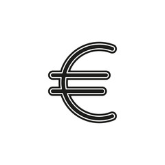 Euro sign icon, currency sign - money symbol, vector cash illustration
