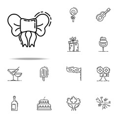 bow dusk style icon. Birthday icons universal set for web and mobile