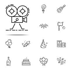 camera dusk style icon. Birthday icons universal set for web and mobile