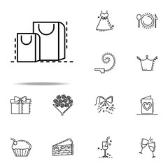 gift wrapping dusk style icon. Birthday icons universal set for web and mobile