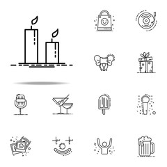 candles dusk style icon. Birthday icons universal set for web and mobile