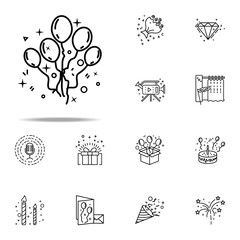 holiday balls dusk style icon. Birthday icons universal set for web and mobile