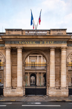 The Council of State (Conseil d'Etat ) part of  french national government  in the Palais-Royal in Paris, France