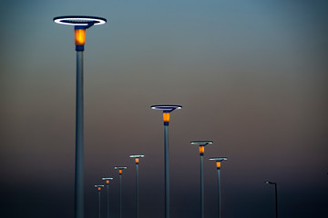 Lighting equipment in street, Led lamp.