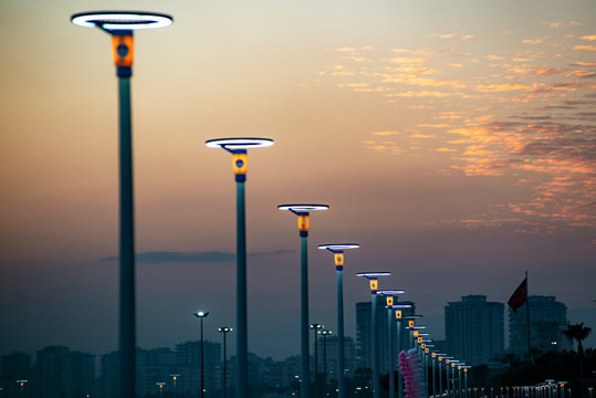 Lighting equipment in street, Led lamp.
