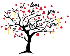 Vector Valentine Tree