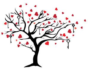 Vector Valentine Tree
