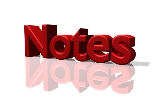 Notes Schriftzug