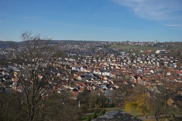 Ausblick von Schloss Hellenstein auf die Stadt Heidenheim