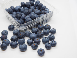 Fresh blue berries isolated on white background