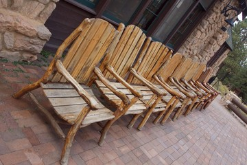 Weathered Wooden Chairs