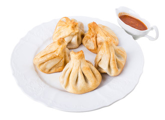 Georgian pan fried dumplings.