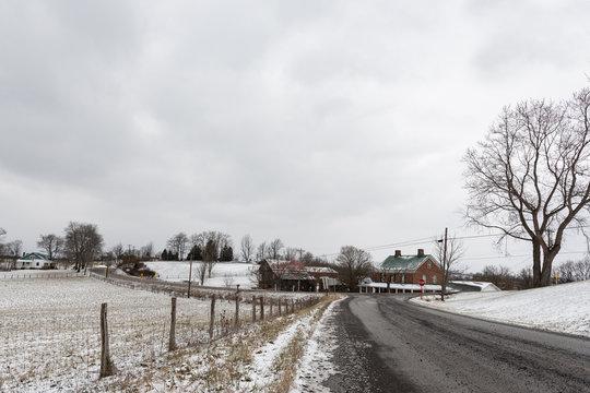 Winter landscape in rural Appalachia