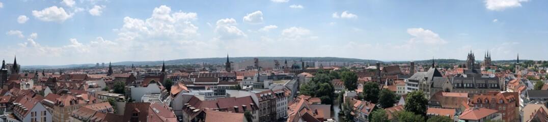 über den Dächern von Erfurt