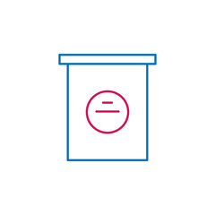Elections, poll box outline colored icon. Can be used for web, logo, mobile app, UI, UX