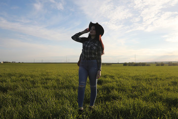 A girl travels the summer in the country