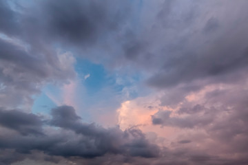 Beautiful cloudscape with pinks and greys 0671