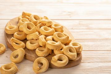 Savory taralli as a tradizional Italian snack