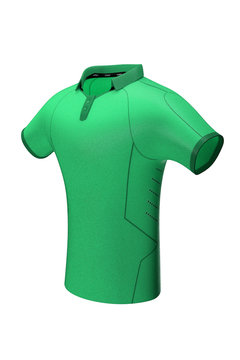 Green sports team shirt for mockup 3/4