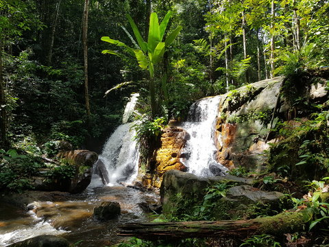 Jaguar Waterfall at Presidente Figueiredo. Amazon, Brazil