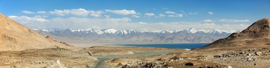 Karakul lake Pamir range and Pamir highway Tajikistan