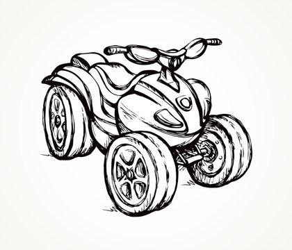 Quad bike. Vector drawing