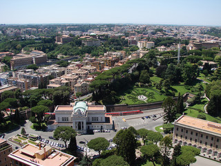 Rome, Italy look from above