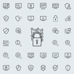 digital lock icon. Virus Antivirus icons universal set for web and mobile