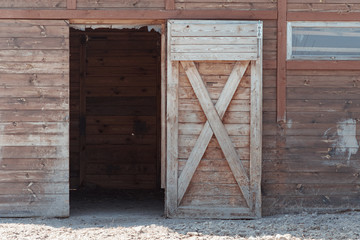 An open door to the barn