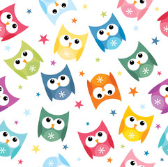 colorful owl pattern design