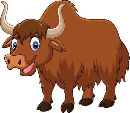 Cartoon happy yak