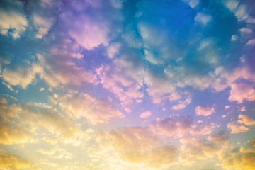 Pastel of sky and soft cloud abstract background - Image