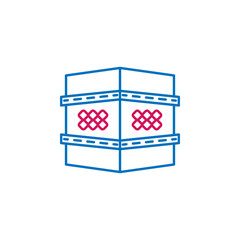 Fototapeta Islam, shrine  2 colored line icon. Simple blue and red element illustration. Islam, shrine  concept outline symbol design from Islam set obraz