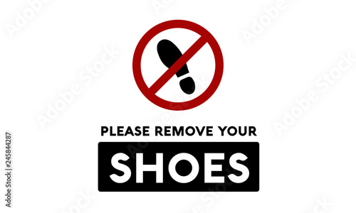 graphic relating to Please Remove Your Shoes Sign Printable Free referred to as You should Get rid of Your Footwear Signal\