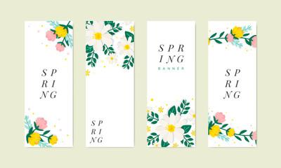 Spring floral illustration collection