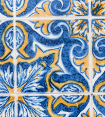 Hand made tiles in Portugal