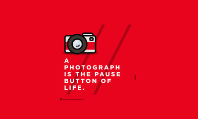 A photograph is the pause button of life Motivational Photography Quote Poster