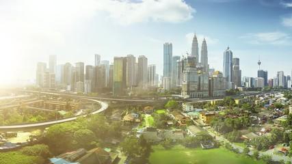 Fotomurales - Aerial view of Kuala Lumpur asia Malaysia , morning scene .