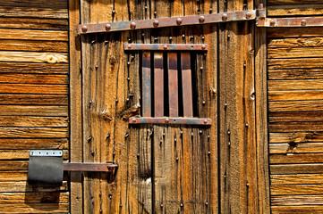 Old Latch Protector on Jail Door.