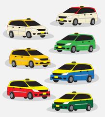 Papiers peints Cartoon voitures MPV taxi car vector