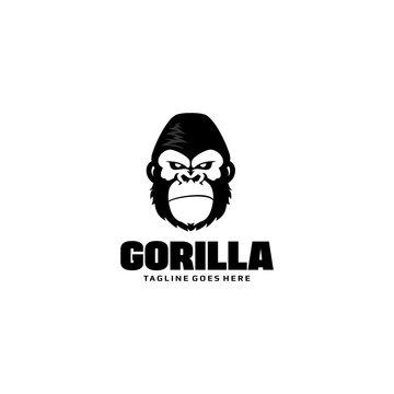 Gorilla Head Logo Template