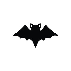 Black solid icon for bat