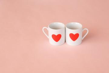 ハートのカップ カップル バレンタイン イメージ