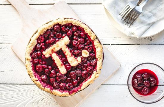 Pi Day Cherry Pie
