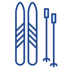 Ski, Skifahren, Winter Vector Icon Illustration