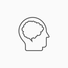 brain icon, head vector