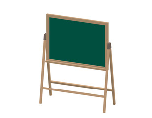 Empty chalkboard. Isolated on white background. 3d Vector illustration.